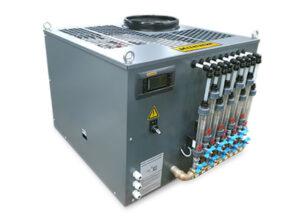 Échangeur de chaleur à 9 circuitsdans un boîtier LTK